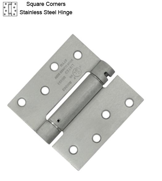 4 X 4 Stainless Steel Spring Hinge Zigzag Hole Deltana Dsh44u32d Doorware Com