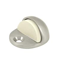 Low Profile Solid Brass Floor Dome Door Stop, Deltana DSLP316