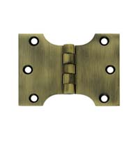 3 x 4 Solid Brass Parliament Hinge, Pair, Deltana DSPA3040