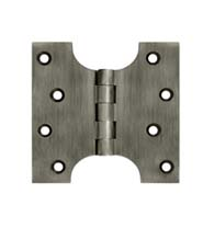 4 x 4 Solid Brass Parliament Hinge, Pair, Deltana DSPA4040