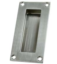 Satin Stainless Steel Rectangular Flush Pull, Deltana FP155U32D