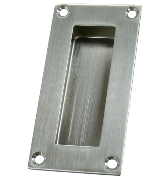 Satin Stainless Steel Rectangular Flush Pull Deltana