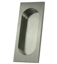 Large Solid Brass Flush Pull, Deltana FP4134