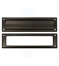 Solid Brass Mail Slot with Trim Bezel, Deltana MS211