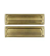 13 1 8 inch mail slot with interior flap deltana ms212 for Zimbra mail ministerio del interior