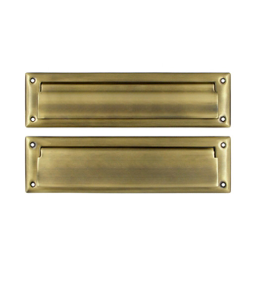 13 1 8 inch mail slot with interior flap deltana ms212 for Mail zimbra ministerio del interior