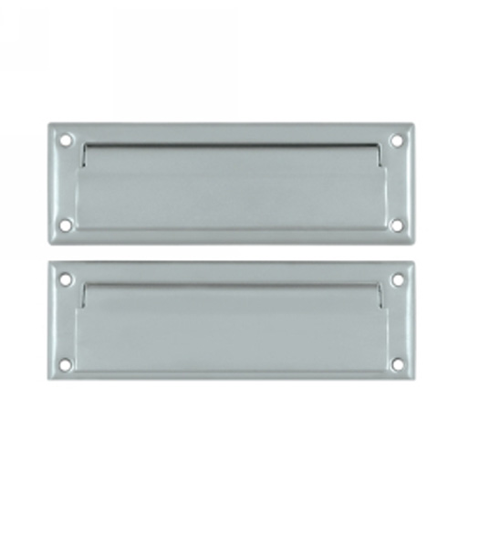 Solid Brass 8 7 8 Inch Mail Slot With Interior Flap