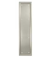 Heavy Duty 3.5 x 20 Push Plate, Solid Brass, Deltana PP2281