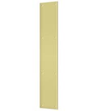 Solid Brass Push Plate 3.5 x 20 Inch, Deltana PP3520