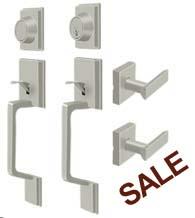 Highgate Double Door Handleset With Dummy, Deltana PRHHL/PRHHDL