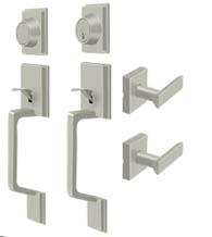 Superior Highgate Double Door Handleset With Dummy, Deltana PRHHL/PRHHDL