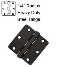 3-1/2 x 3-1/2 x 1/4 Radius Heavy Duty Steel Hinge, Pair, Deltana S35R4HD