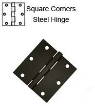 3-1/2 x 3-1/2 x Square Corners Residential Steel Hinges, Pair, Deltana S35Ux-R