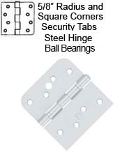 4 x 4-1/4 Fiber Glass Door Hinge with Ball Bearings, Pair, Deltana S41/4058BU