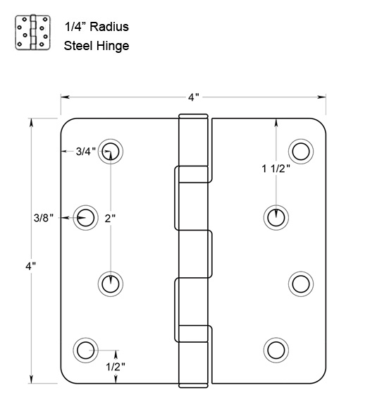 4 inch Steel Hinge with Ball Bearings