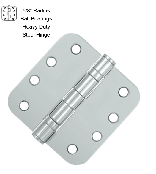 4 Inch Steel Hinges with Ball Bearings