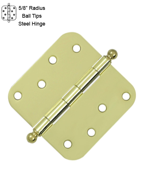4 Inch x 5/8 Radius Hinge With Ball Tips