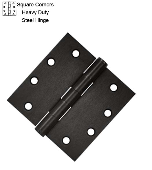 4-1/2 Heavy Duty Steel Door Hinges