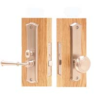 Decorative Screen Door Mortise Lock Set, Deltana SDL688