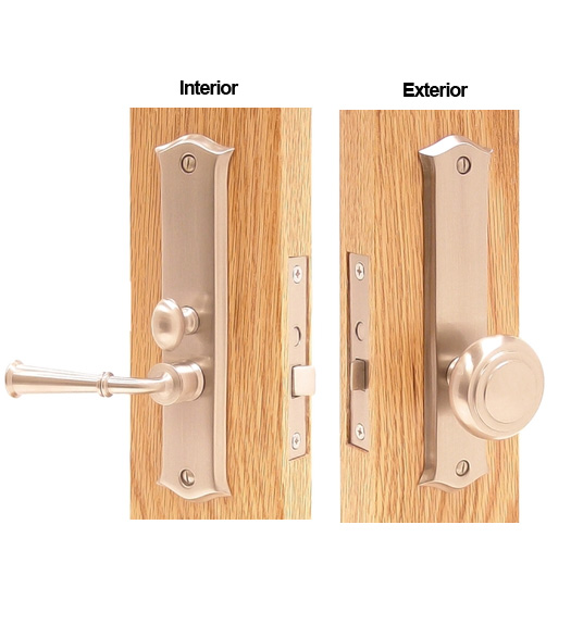 Decorative Screen Door Mortise Lock Set Deltana Sdl688