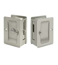 Double Pocket Door Lock Set with Thumbturns on Both Sides, SDLLA325/SDAR325