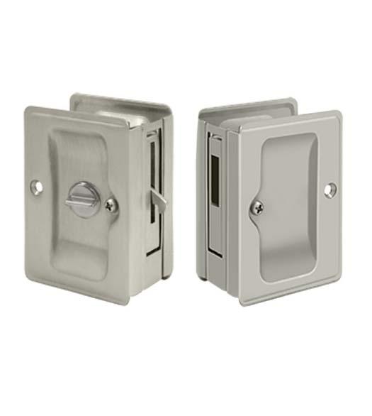 Double Pocket Door Lock Set With