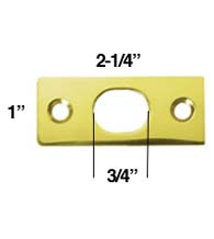 Strike Plate for Deltana Extension Flush Bolt, Deltana SP12EFB