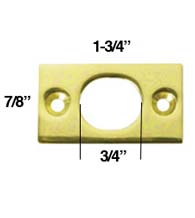 Strike Plate for Deltana 6 Inch Flush Bolt, Deltana SP6FB
