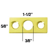 Strike Plate for Flush Bolt, Deltana SP7FBR