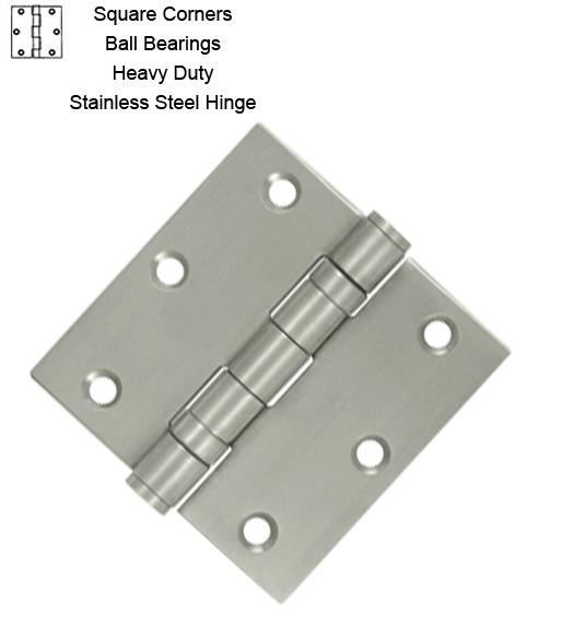 3-1/2 Stainless Steel Hinge