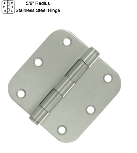 3-1/2 Inch Residential Stainless Hinge