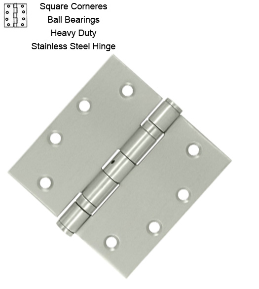 4-1/2 Inch Satin Stainless Steel Hinge