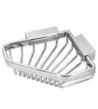 Pentagon Polished Chrome Corner Wire Basket, Deltana WBP542
