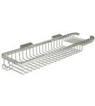 Rectangular 17-3/4 Inch Wire Basket With Hook, Deltana WBR1850H