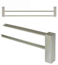 24 Inch Modern Value Double Towel Bar, Deltana ZA2006/24