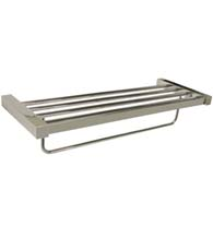 24 Inch Modern Value Towel Shelf With Towel Bar, Deltana ZA2024