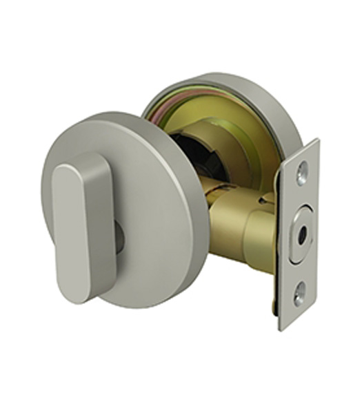 Modern Single Cylinder Round Deadbolt