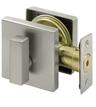 Square Elite Single Cylinder Deadbolt, Deltana ZDS