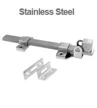 8 Inch Stainless Steel Padlocking Slide Bolt, Don-Jo 1582-630