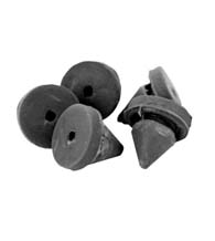 Metal Door Silencer Rubber, 5 Pack, Don-Jo 1608