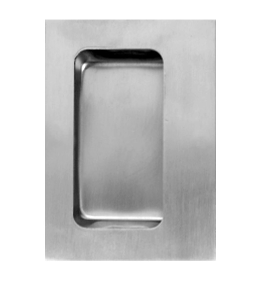 3-1/2 x 4-3/4 Stainless Flush Cup Pull