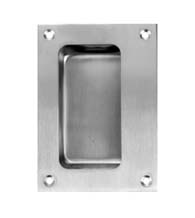 3-1/2 x 4-3/4 Stainless Flush Cup Pull, Don-Jo 1850