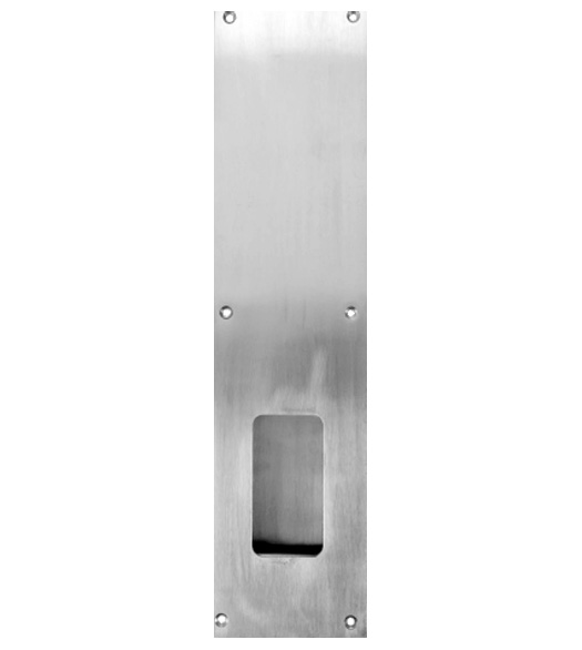 4 x 16 Large Flush Pull Plate