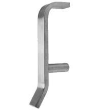 Hygienic Stainless Steel Door Pull, Don-Jo 42-630