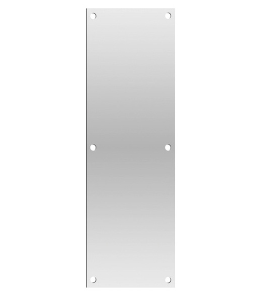 6 x 20 Push Plate in Satin Stainless Steel