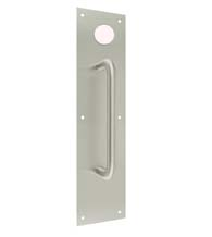3-1/2 x 15 Brushed Stainless Steel Pull Plate with Hole