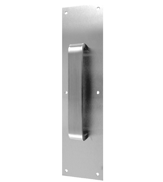 Stainless Steel 3-1/2 x 15 Pull Plate