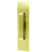 4 x 16 Pull Plate, Polished Brass or Oil Rubbed Bronze, Don-Jo 7131-xxx