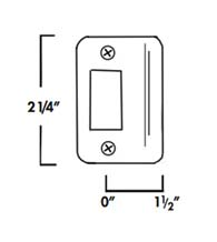 1-1/2 Inch Lip Radius Corner Strike Plate, Don-Jo 9115-RC