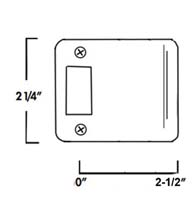 2-1/2 Inch Lip Radius Corner Strike Plate, Don-Jo 9125-RC